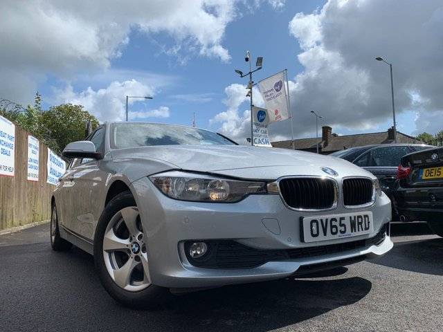 USED 2015 65 BMW 3 SERIES 2.0 320D EFFICIENTDYNAMICS 4d AUTO 161 BHP 2KEYS+ALLOYS+CLIMATE+PARK+AUX+20 ROAD TAX+HISTORY+ELEC+CLEAN CAR+