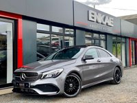 """USED 2018 18 MERCEDES-BENZ CLA 2.1 CLA 220 D AMG LINE 4d AUTO 174 BHP PANORAMIC ROOF*NIGHT PACK*WIDE SAT NAV*HEATED LEATHER/ALCANTRA SEATS*FOLDING MIRRORS*18"""" BLACK AMG ALLOYS*CLA 45 REAR DIFFUSSER**CLA 45 REAR BADGES*BLACK MIRRORS*BLACK WINDOW SURROUNDS*1 MATURE OWNER FROM NEW* FULL MERCEDES SERVICE HISTORY*RECENT FRONT NEW TYRES*PRIVACY GLASS*VERY ECONOMICAL 174 BHP*CLEAN CAR LOOKS REALLY NICE WITH THE BLACK AND GREY*"""