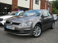 USED 2013 13 VOLKSWAGEN GOLF 1.4 SE TSI BLUEMOTION TECHNOLOGY 5d 120 BHP