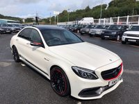 USED 2015 15 MERCEDES-BENZ C CLASS 4.0 AMG C 63 S EDITION 1 4d AUTO 503 BHP Diamond White Pearlescent, AMG Carbon Packages, AMG Exhaust, AMG Drivers Pack ++