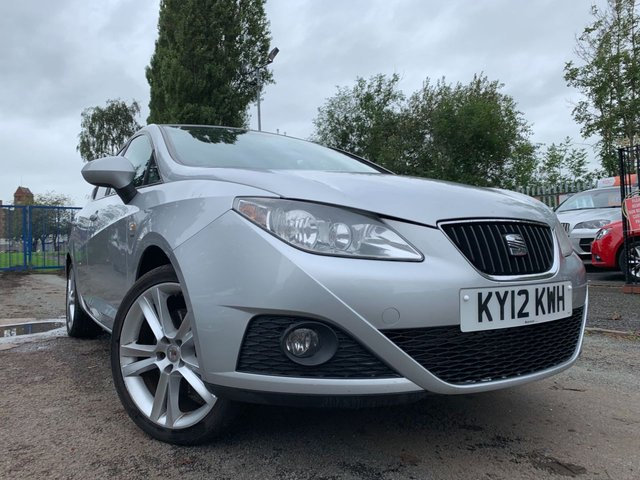 USED 2012 12 SEAT IBIZA 1.6 CR TDI SPORTRIDER 5d 103 BHP RECENT CLUTCH AND BATTERY+PAS+PARK SENSORS+ALLOYS+SPOILER+ELECS+