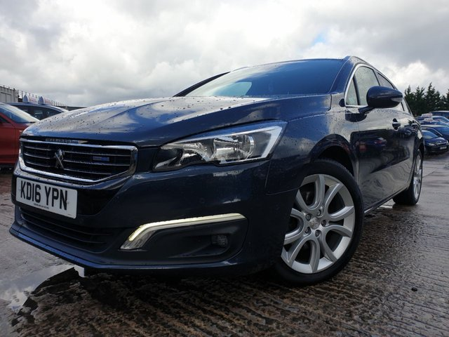 USED 2016 16 PEUGEOT 508 SW 2.0 BLUE HDI S/S ALLURE 5d 150 BHP 18ALLOYS+CLIMATE+PARKING+20ROADTAX+NAV+LEATHERTRIM+PANROOF+MEDIA+