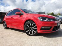 USED 2016 16 VOLKSWAGEN GOLF 2.0 R LINE EDITION TDI BMT DSG 5d AUTO 148 BHP 18ALLOYS+AIRCON+PARKING+30TAX+ELEC+2KEYS+NAV+PANROOF+PRIVGLASS+