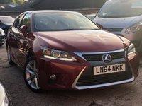 2014 LEXUS CT 1.8 200H ADVANCE 5d AUTO 134 BHP £9450.00