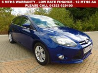 USED 2014 14 FORD FOCUS 1.6 TITANIUM NAVIGATOR 5d AUTO 124 BHP All retail cars sold are fully prepared and include - Oil & filter service, 6 months warranty, minimum 6 months Mot, 12 months AA breakdown cover, HPI vehicle check assuring you that your new vehicle will have no registered accident claims reported, or any outstanding finance, Government VOSA Mot mileage check. Because we are an AA approved dealer, all our vehicles come with free AA breakdown cover and a free AA history check.. Low rate finance available. Up to 3 years warranty available.