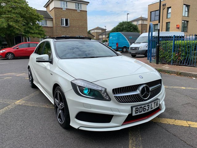 2013 63 MERCEDES-BENZ A CLASS 2.0 A250 BLUEEFFICIENCY ENGINEERED BY AMG 5d AUTO 211 BHP