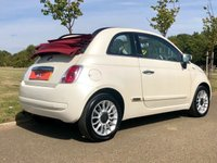 USED 2010 10 FIAT 500 1.2 C LOUNGE 69 BHP 3DR CONVERTIBLE SATNAV* FULL LEATHER* ALLOYS