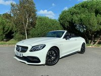 USED 2017 66 MERCEDES-BENZ C CLASS 4.0 AMG C 63 PREMIUM 2d AUTO 469 BHP STUNNING C63 PREMIUM CAB IN WHITE WITH FULL BLACK HEATED LEATHER NIGHT PACK 1 OWNER 17000 MILES