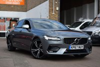 USED 2017 67 VOLVO S90 2.0 D4 R-DESIGN PRO 4d 188 BHP A stunning grey metallic Volvo S90 2.0D4 R DESIGN PRO AUTO 4DR with a black leather sports interior. Low mileage with service history and 2 keys.