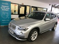 USED 2015 15 BMW X1 2.0 XDRIVE18D XLINE 5d 141 BHP One private owner, full BMW service history, August 2020 Mot. Fitted with X-Drive (4WD). Finished in Glacier Silver with full Black leather seats.
