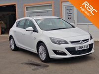 """USED 2014 64 VAUXHALL ASTRA 1.4 EXCITE 5d 98 BHP 1/2 Leather Effect, Bletooth, 17"""" Alloys, Cruise Control, Parking Sensors, Low mileage, RAC Inspected"""