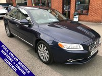 """USED 2011 61 VOLVO S80 2.4 D5 SE LUX 4DOOR 212 BHP Satellite Navigation   :   USB & AUX   :   Cruise Control   :   Phone Bluetooth Connectivity     Climate Control / Air Con   :   Electric Driver Seat   :   Rear Parking Sensors   :   17"""" Alloys      2 Keys   :   Full Volvo Service History"""
