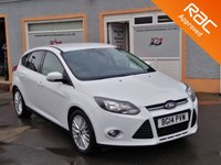 """USED 2014 14 FORD FOCUS 1.0 ZETEC 5d 124 BHP 17"""" Multi Spoke Alloys, 2 Service Stamps, Heated Windscreen, Privacy Glass"""