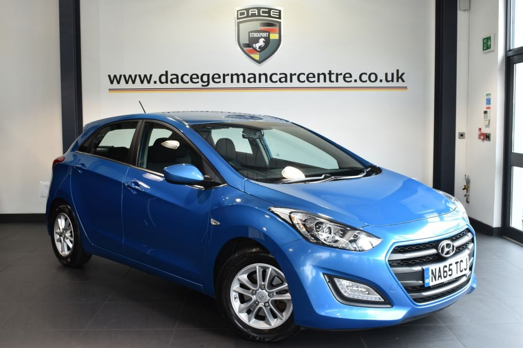 "USED 2015 65 HYUNDAI I30 1.6 CRDI SE BLUE DRIVE 5DR 109 BHP full service history Finished in a stunning metallic blue styled with 15"" alloys. Upon opening the drivers door you are presented with cloth upholstery, full service history, bluetooth, cruise control, usb/aux port/ air conditioning, electric mirrors, parking sensors"