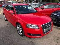 USED 2009 09 AUDI A3 1.9 TDI E SPORT 5d 103 BHP GREAT SPEC AND ECONOMY, £30 ROAD TAX, SUPPLIED WITH A NEW MOT