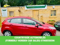 USED 2008 58 FORD FIESTA 1.4 ZETEC 16V 5d 96 BHP Lovely looking example of the new shape fiesta MK7 with part service history, finished in special edition hot magenta pearl paint, upgraded zetec interior with contrasting dash and door cards, electric windows , power steering, electric mirrors. Desirable 5 door model. RAC Passport checked and clear. This car comes with a full service a new MOT and 2 years parts and labour gold cover warranty.