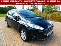 USED 2013 63 FORD FIESTA 1.0 ZETEC 5d 99 BHP All retail cars sold are fully prepared and include - Oil & filter service, 6 months warranty, minimum 6 months Mot, 12 months AA breakdown cover, HPI vehicle check assuring you that your new vehicle will have no registered accident claims reported, or any outstanding finance, Government VOSA Mot mileage check. Because we are an AA approved dealer, all our vehicles come with free AA breakdown cover and a free AA history check.. Low rate finance available. Up to 3 years warranty available.