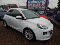 USED 2013 13 VAUXHALL ADAM 1.4 JAM 3d 85 BHP AIR CONDITIONING, ALLOY WHEELS, TOUCH SCREEN RADIO, LOW INSURANCE