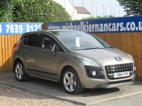 2012 PEUGEOT 3008 2.0 ALLURE HDI 5d AUTO 163 BHP £6295.00