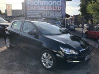 USED 2014 14 PEUGEOT 308 1.6 HDI ACTIVE 5d 92 BHP 2 OWNER , FULL SERVICE HISTORY, GREAT ECONOMY,  ALLOYS, COLOUR SAT NAV,