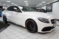 USED 2016 16 MERCEDES-BENZ C CLASS 4.0 C 63 AMG S PREMIUM AUTO 510 BHP FMBSH SPORTS EXHAUST PAN ROOF BURMESTER