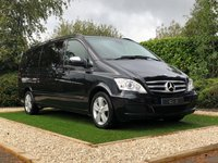 USED 2012 12 MERCEDES-BENZ VIANO 2.1 AMBIENTE CDI BLUEEFFICENCY 5d 163 BHP EX LONG A HIGH SPEC AND MERCEDES MAIN DEALER MAINTAINED EXAMPLE LUXURIOUSLY APPOINTED THROUGHOUT WITH LUGANO BLACK LEATHER AND TWIN POWER DOORS FACTORY WIDESCREEN SAT NAV ALLOY WHEELS FRONT AND REAR PARKING SENSORS FULL UP TO DATE MERCEDES SERVICE HISTORY. THESE EXTRA LONG MODELS HAVE SPACE FOR EIGHT PEOPLE AND THEIR LUGGAGE AND IS READY FOR WORK OR LEISURE
