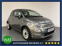 USED 2019 19 FIAT 500 1.2 LOUNGE 3d 69 BHP FULL HISTORY - 1 OWNER - REAR SENSORS - PAN ROOF - HALF LEATHER - AIR CON - BLUETOOTH - ULEZ OK - CRUISE