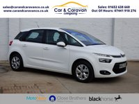 USED 2013 63 CITROEN C4 PICASSO 1.6 E-HDI AIRDREAM VTR PLUS 5d 113 BHP Dealer History Bluetooth A/C Buy Now, Pay Later Finance!