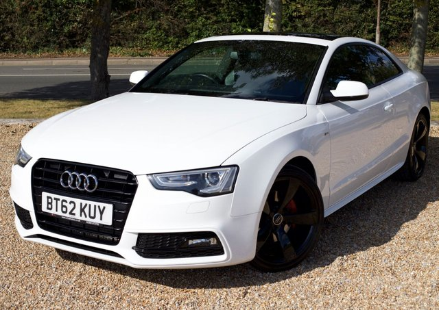 2013 62 AUDI A5 3.0 TDI BLACK EDITION 2d AUTO 204 BHP/ SUNROOF/ BANG & OLUFSEN SOUND SYSTEM/ XENONS