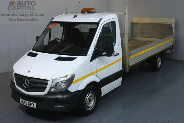 2013 63 MERCEDES-BENZ SPRINTER 2.1 313 CDI LWB 129 BHP DROPSIDE ONE OWNER, REAR TAIL LIFT FITTED