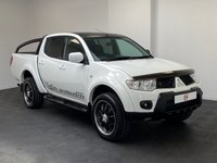 USED 2012 12 MITSUBISHI L200 2.5 DI-D 4X4 BARBARIAN BLACK LB DCB 1d 175 BHP LOW MILES + NO VAT + VERY NICE WHITE + LEATHER