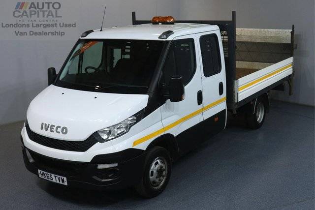 2015 65 IVECO DAILY 2.3 35C13D RWD 126 BHP TWIN WHEEL 7 SEATS DROPSIDE REVERSE CAMERA, TAIL LIFT FITTED, 7 SEATS