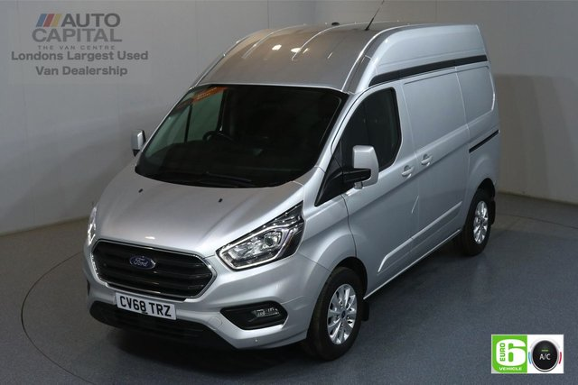 2018 68 FORD TRANSIT CUSTOM 2.0 300 LIMITED L1 H2 129 BHP EURO 6 ENGINE AIR CON, FRONT-REAR PARKING SENSORS, ALLOY WHEEL, HIGH ROOF