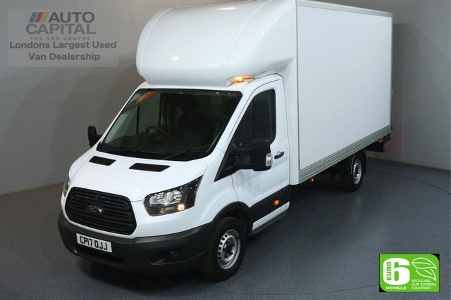 2017 17 FORD TRANSIT 2.0 350 L4 168 BHP EURO 6 ENGINE LUTON ONE OWNER FROM NEW