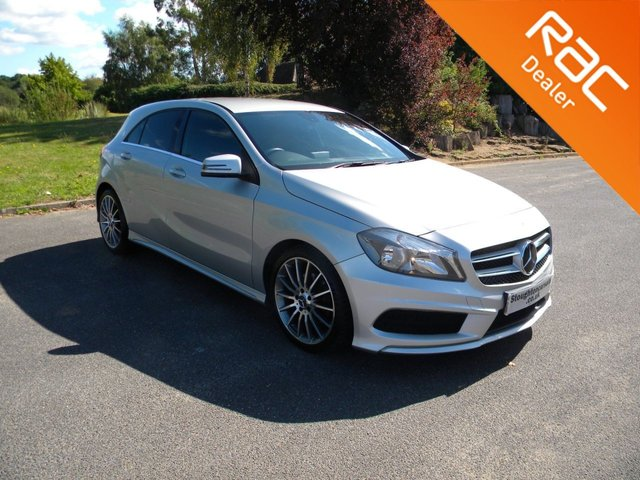 USED 2014 14 MERCEDES-BENZ A CLASS 1.8 A180 CDI BLUEEFFICIENCY AMG SPORT 5d AUTO 109 BHP Half Leather Seats, Sat Nav, Alloy Wheels, Cheap To Tax, Bluetooth