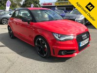 USED 2013 63 AUDI A1 1.6 TDI S LINE STYLE EDITION 3d 103 BHP IN METALLIC RED WITH 2 OWNERS, FULL SERVICE HISTORY, 78500 MILES AND A GREAT SPEC APPROVED CARS ARE PLEASED TO OFFER THIS 2013 AUDI A1 1.6 TDI S LINE IN METALLIC RED, THIS IS AN IDEAL CITY CAR WITH ONLY 78500 MILES, FULL SERVICE HISTORY AND ONLY 2 OWNERS. THIS CAR HAS A BRILLIANT SPEC INCLUDING BLUETOOTH,DAB RADIO, FULL LEATHER S-LINE SEATS AND MUCH MUCH MORE. FOR MORE INFORMATION PLEASE CALL OUR SALES TEAM ON 01622 871555.