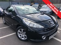 USED 2008 08 PEUGEOT 207 1.6 SPORT COUPE CABRIOLET 2d AUTO 118 BHP CONVERTIBLE WITH LONG MOT