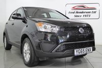 USED 2015 65 SSANGYONG KORANDO 2.0 SE 5d 147 BHP STUNNING KORANDO 2.0 D  SE FINISHED IN BLACK  WITH bLACK INTERIOR, THE CAR HAS BEEN TAKEN CARE OF LOOKS AND DRIVES GREAT! FULL SERVICE HISTORY, 1 OWNER PLUS DEMO SSANGUONG LEEDS BLUETOOTH HANDSFREE, IPOD CONNECTION, AUX CONNECTION, CRUISE CONTROL, ELECTRIC WINDOWS FRONT AND BACK, ELECTRIC WING MIRRORS, AND MUCH MORE! EXCELLENT SSANGYONG CLASS LEADING  WARRANTY TILL NOVEMBER 2020 CALL NOW TO AVOID DISAPPOINTMENT! , 12 months MOT,Full Service history, Excellent bodywork, Black Cloth interior - Exc