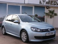 2012 VOLKSWAGEN GOLF 1.6 S TDI BLUEMOTION 5d 103 BHP £6195.00