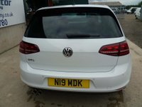 USED 2014 N VOLKSWAGEN GOLF 2.0 TDI BlueMotion Tech GTD DSG 5dr WHITE, AUTOMATIC, SAT-NAV