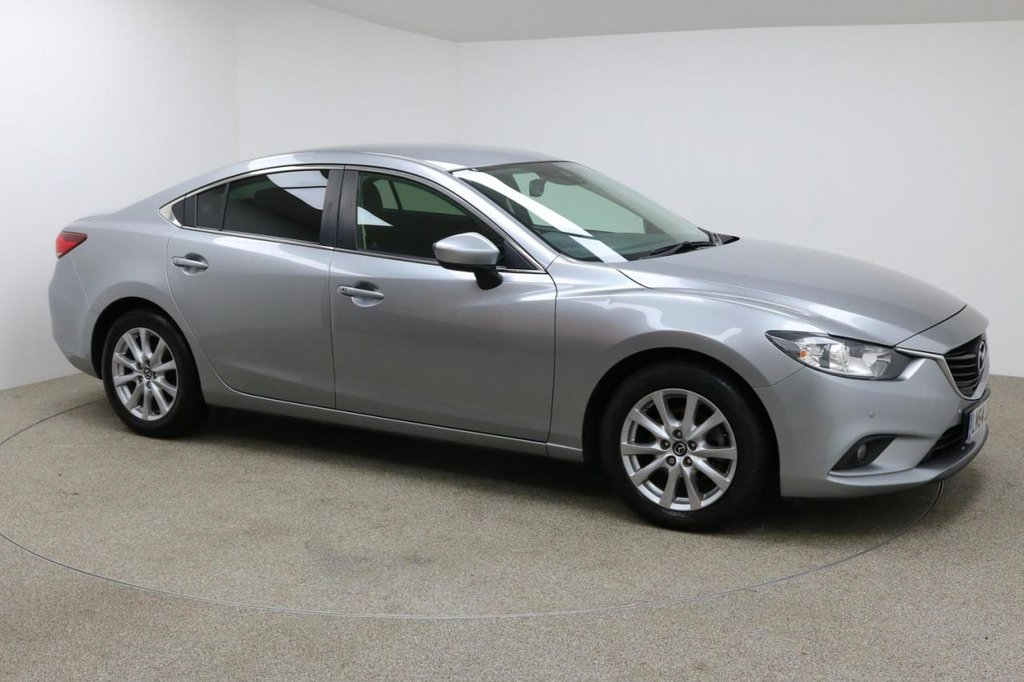 USED 2015 MAZDA 6 6 SE-L NAV D FINISHED IN A STUNNING SLIVER + SAT-NAV + BLUETOOTH + AUX/USB + STOP/START + DUAL-ZONE CLIMATE CONTROL + AIR CONDITIONING + MULTI-FUNCTION WHEEL + CRUISE CONTROL + ELECTRIC WINDOWS + FRONT AND REAR PARKING SENSORS + FREE ROAD TAX + SERVICE HISTORY