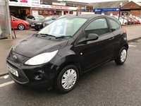 USED 2013 13 FORD KA 1.2 STUDIO 3d 69 BHP Black, 35000 miles, low tax, low insurance, low mileage, economical, superb