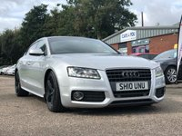 USED 2010 10 AUDI A5 2.0 SPORTBACK TDI S LINE 5d AUTO 141 BHP FULL LEATHER + AUDI PLUS PARKING AID * 19 INCH ALLOYS + HEATED SEATS + PRIVACY GLASS +FULL YEAR MOT