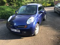 USED 2004 04 NISSAN MICRA 1.2 SX 3d 80 BHP LONG MOT TILL MAY 2020-SERVICE HISTORY-1.2 PETROL ENGINE
