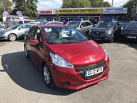 2012 PEUGEOT 208 1.2 ACCESS PLUS 5d 82 BHP IN METALLIC RED WITH 49000 MILES, FULL SERVICE HISTORY AND GREAT SPEC. THIS IS ULEZ COMPLAINT £3999.00
