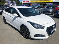 2015 HYUNDAI I40 1.7 CRDI SE NAV BLUE DRIVE 4d AUTO 139 BHP IN METALLIC WHITE WITH ONLY 47000 MILES, FULL SERVICE HISTORY, SAT NAV AND THIS VEHICLE IS ULEZ COMPLIANT £9499.00