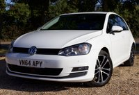"USED 2014 64 VOLKSWAGEN GOLF 1.4 GT TSI ACT BLUEMOTION TECHNOLOGY DSG 5d AUTO 148 BHP/ SAT NAV/ REVERSING CAMERA/ STUNNING LOOKING & FULLY LOADED VOLKSWAGEN GOLF 1.4 TSI ACT 150 GTDSG AUTOMATIC COMES WITH SAT NAV/ CRUISE CONTROL/ PARKING SENSORS/ PRIVACY GLASS/ 17'IN ALLOYS/ WITH FULL SERVICE HISTORY/ NEW SERVICE/ 1 OWNER/ MOT 06/12/2019/ WARRANTY/ 1 KEY/ HPI CLEARED/   BOOK A TEST DRIVE TODAY!  APPLY FOR A CAR FINANCE ON OUR WEBSITE PAGE ""FINANCE""."