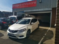 USED 2017 66 NISSAN PULSAR 1.5 N-CONNECTA DCI 5d 110 BHP ONLY 7728 MILES FROM NEW, CHEAP TO RUN, LOW CO2 EMISSIONS 94 G/KM,ZERO ROAD TAX! GOOD FUEL ECONOMY AND EXCELLENT SPECIFICATION INCLUDING, ALLOY WHEELS, CLIMATE CONTROL, NAVIGATION SYSTEM, 17 INCH ALLOY WHEELS,PRIVACY GLASS, PARKING SENSORS, MULTIMEDIA SYSTEM ,CENTRAL DOOR LOCKING AND ELECTRIC WINDOWS, MEETS ALL LARGE CITY EMISSION STANDARDS.