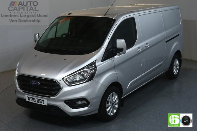 2018 18 FORD TRANSIT CUSTOM 2.0 300 LIMITED L2 H1 129 BHP EURO 6 ENGINE AIR CON, FRONT- REAR PARKING SENSORS, ALLOY WHEEL