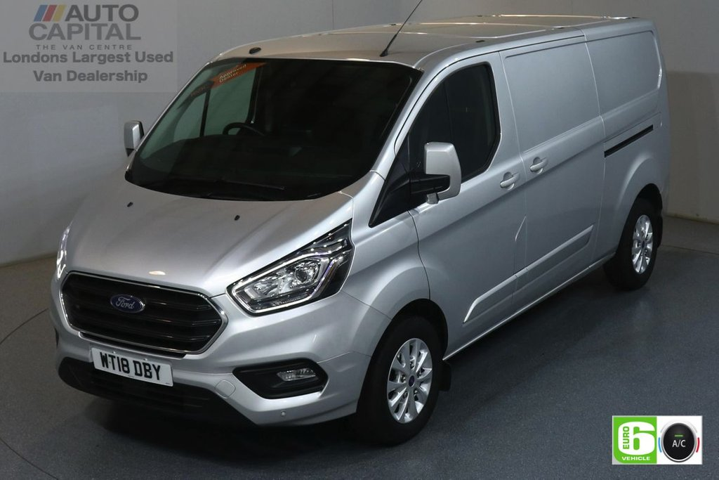 USED 2018 18 FORD TRANSIT CUSTOM 2.0 300 LIMITED L2 H1 129 BHP EURO 6 ENGINE AIR CON, FRONT- REAR PARKING SENSORS, ALLOY WHEEL